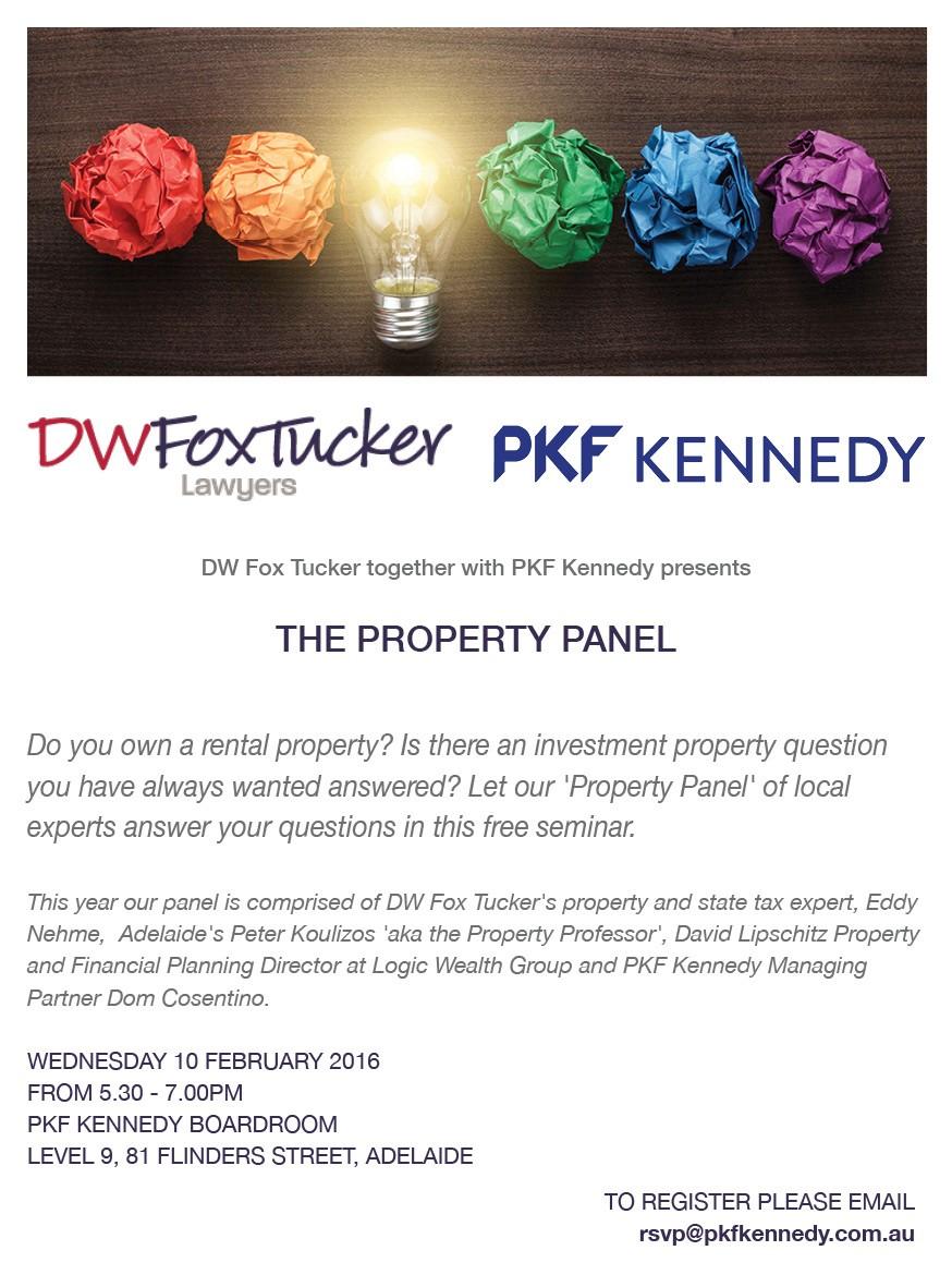 DW Fox Tucker & PKF Kennedy - Property Panel - 10 Feb 2016