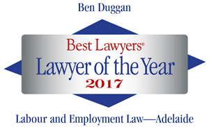 Best Lawyers - Ben Duggan Lawyer of Year 2017 logo