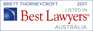 Best Lawyers - Brett Thorneycroft 2017