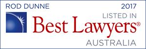 Best Lawyers - Rod Dunne - 2017